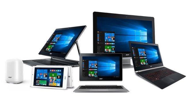 Nueva línea de equipos con Windows 10 de Acer