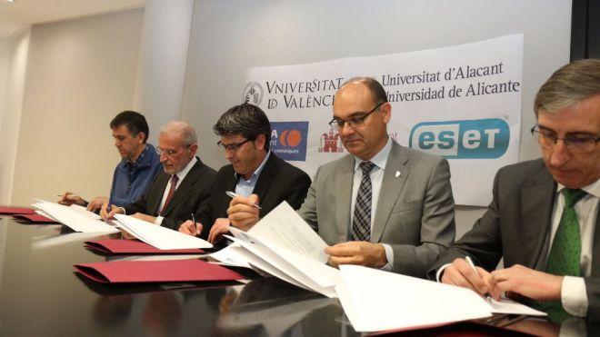 Primera cátedra conjunta de las Universidades de Alicante y Valencia