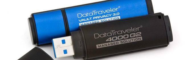 Nuevos USBs cifrados con opción Management Ready de Kingston