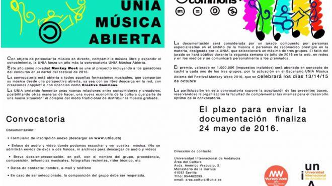 La Universidad Internacional de Andalucía lanza, un año más, la convocatoria UNIA Música Abierta