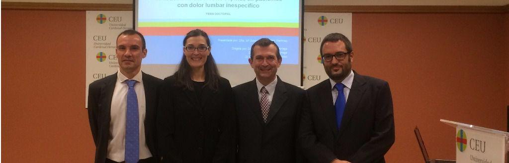 Los profesores de la CEU-UCH Juan Francisco Lisón, María Dolores Arguisuelas y Julio Doménech, y el profesor de la UV, Daniel Sánchez, autores de la investigación