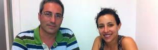 El profesor Bru Cormand y su colaboradora Cèlia Sintas, del Departamento de Genética, Microbiología y Estadística y el Instituto de Biomedicina de la UB (IBUB).