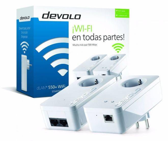 dLAN 550+ WiFi, el PLC-Powerline de devolo