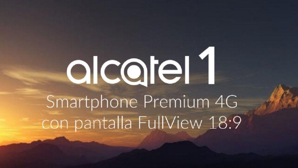 Alcatel 1, se presenta con Android Oreo , acabado diseño y sólo por 70 euros