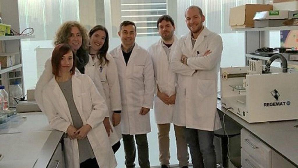 De izquierda a derecha: Gema Jiménez, Macarena Perán, Carmen Griñán, Juan Antonio Marchal, José Manuel Baena, Manuel Figueruela