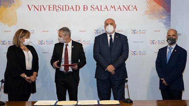 La USAL y ENUSA firman un acuerdo de colaboración para la promoción de la investigación y la divulgación científico-cultural