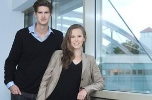 Los fundadores del proyecto, Alexander Gassner y Mira Maier