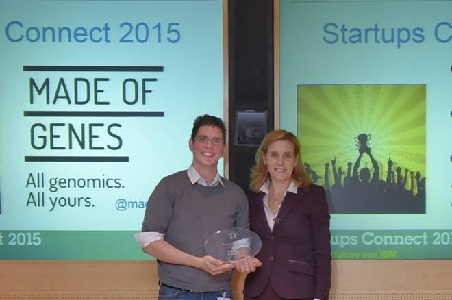 Oscar Flores de MADE OF GENES y Marta Martínez, presidenta de IBM