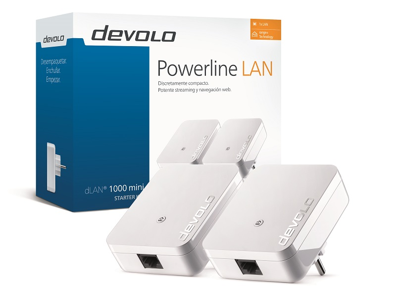 Devolo, nuevo adaptador compacto PLC-Powerline dLAN 1000 mini