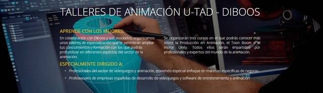 Comienzan Los talleres de animación de U-tad y Diboos
