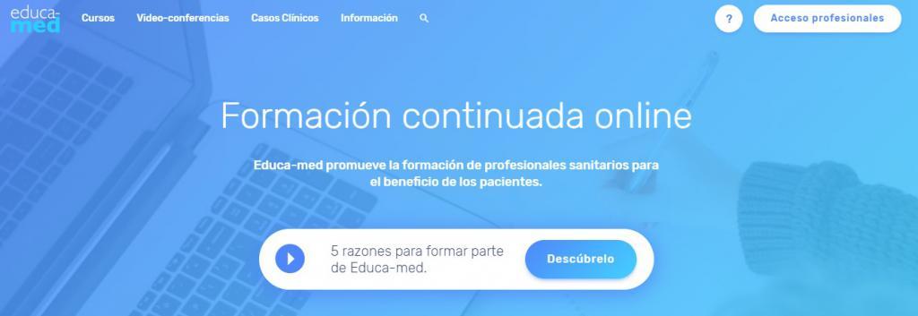 EDUCA-MED, la nueva plataforma online de formación especializada para profesionales de la sanidad