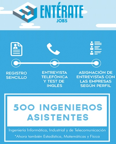 'Entérate Jobs Assessment Day', una oportunidad única para encontrar trabajo IT para ingenieros