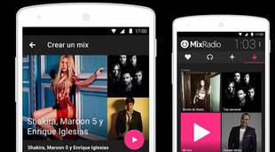 La música de MixRadio llega a Android e iOS