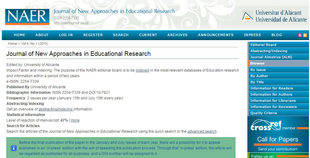 La revista NAER,de la UA, entra en el ERIH PLUS, el índice de referencia de revistas científicas de la Unión Europea