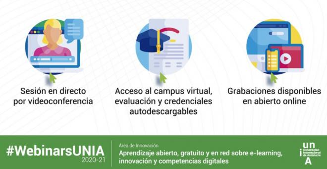 Comienza la programación de webinars online sobre innovación educativa de la UNIA